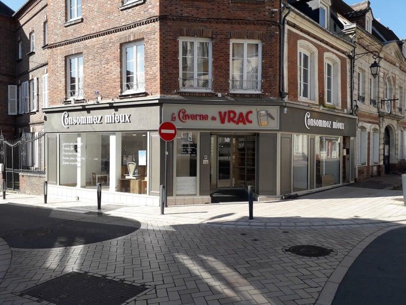 Impact communication fabrication enseigne boutique vrac en Normandie