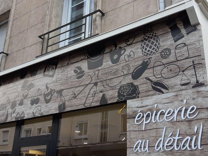 Impact communication réalisation et pose de panneau enseigne pour l'épicerie O'naturel à Evreux (27)