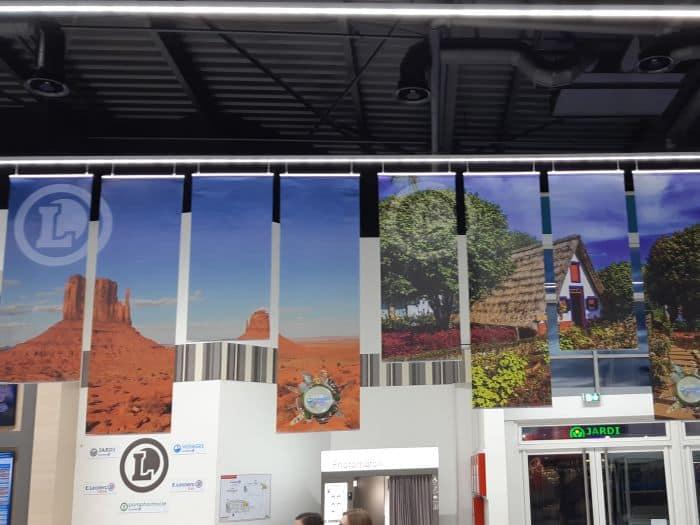 Impact communication réalisation affiche grand format Leclerc à Saint-Pierre-lès-Elbeuf (76)