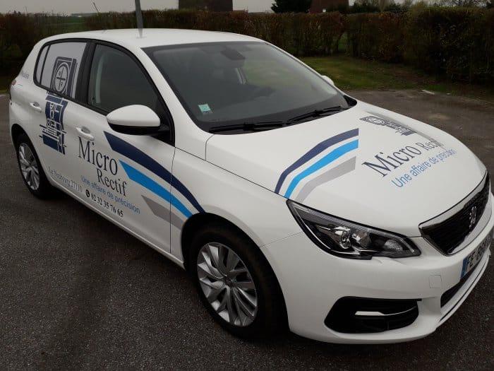 Impact communication réalisation semi-covering de véhicule Micro Rectif Le Neubourg (27)