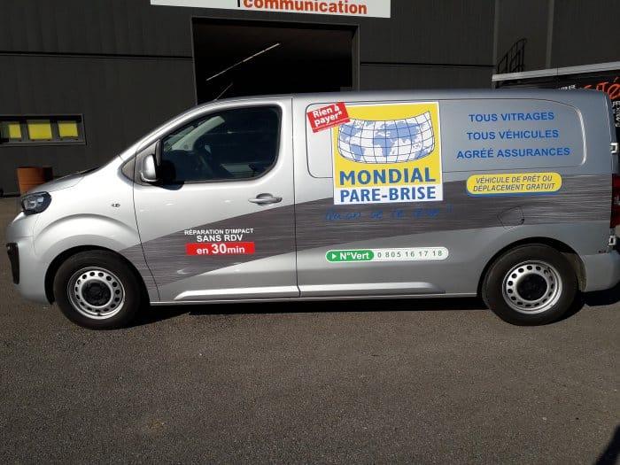 Impact communication réalisation semi-covering de véhicule Mondial Pare-Brise Le Neubourg (27)
