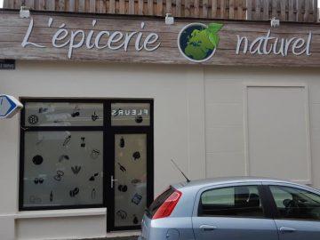 Impact communication réalisation de l'enseigne épicerie O'naturel à Evreux