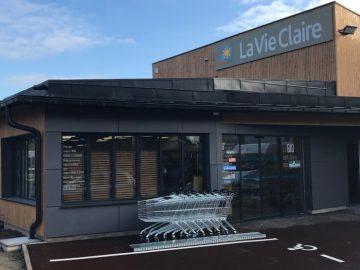 Impact communication réalisation de l'enseigne magasin la vie claire à Saint-Leu-la-Forêt