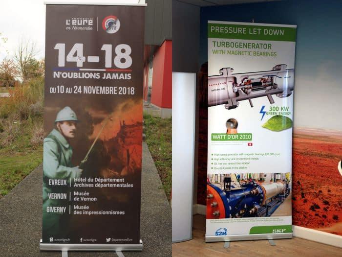 Impact communication réalisation roll-up département de l'Eure et SKF (27)