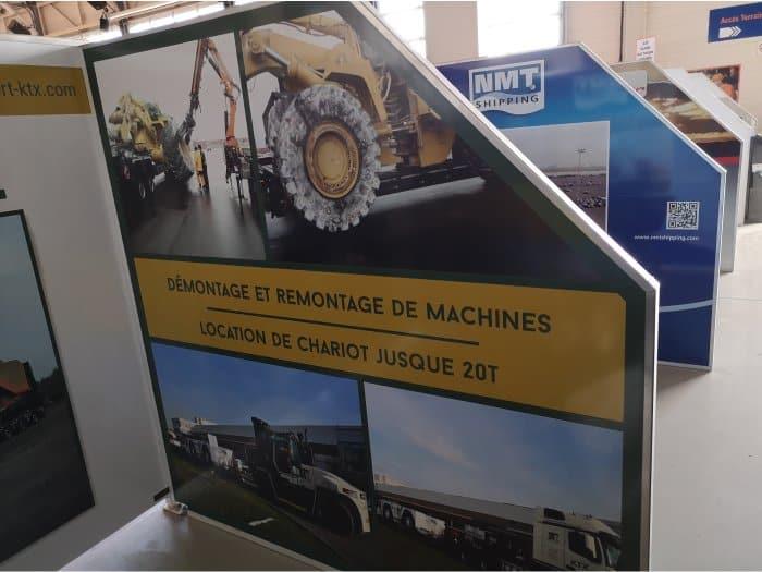 Impact communication réalisation stand pour KTX Transport à Roncq (59)