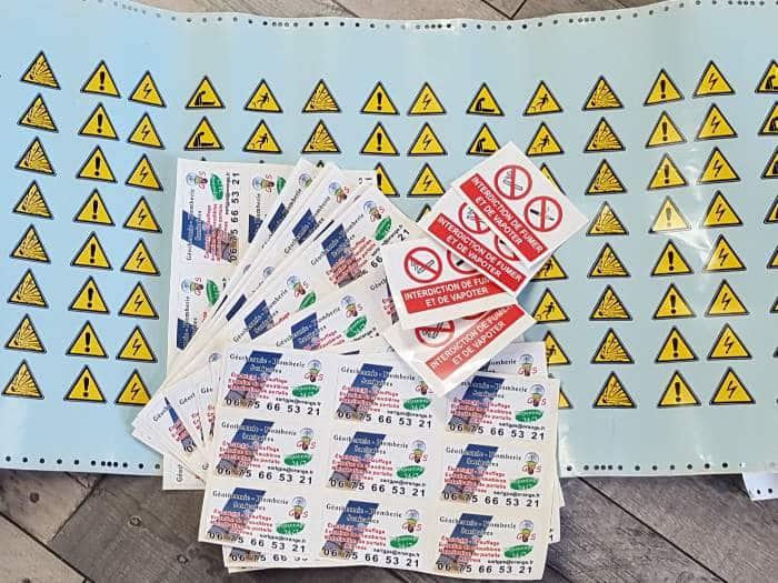 impact communication réalisation d'autocollants et de stickers adhésifs personnalisés au Neubourg