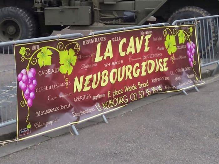 impact communication réalisation de bâches et de banderoles pour le Cave Neubourgeoise (27)