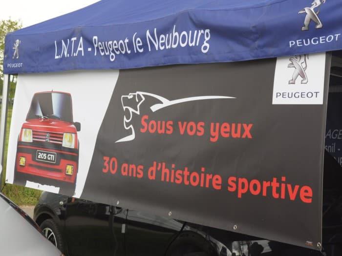 impact communication réalisation de bâches et de banderoles pour LNTA Peugeot à Crosville-la-Vieille (27)