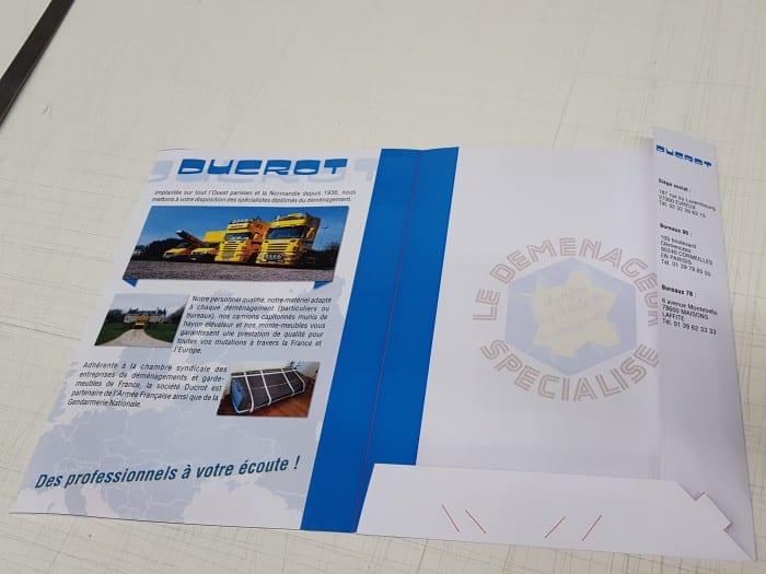 impact communication impression chemise à rabat pour Ducrot déménagement à Evreux (27)