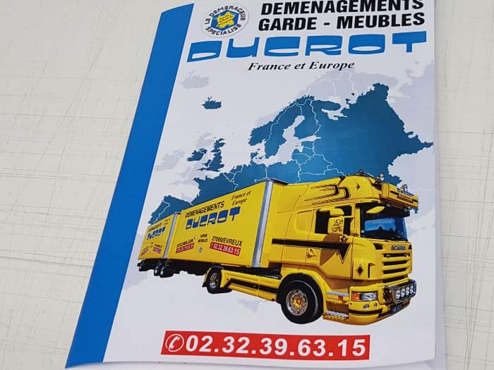 impact communication impression chemise à rabat pour Ducrot garde meubles à Evreux (27)