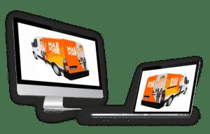 Impact communication création de maquette de covering de véhicules au Neubourg