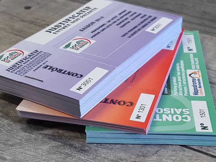 Impact communication impression billetterie tickets d'entrée pour la société de courses de Bernay (27)