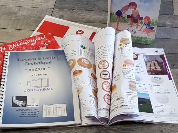 impact communication réalisation et impression brochures et livrets agrafés au Neubourg (27)