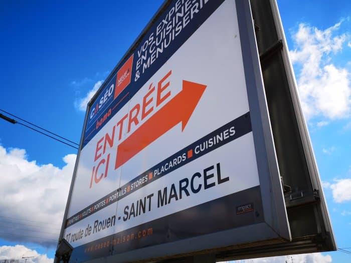 impact communication fabrication de panneau grand format 4x3 Caseo Bama à Saint-Marcel (27)