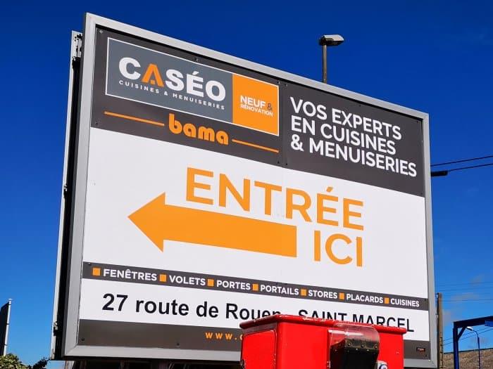 impact communication fabrication de panneau grand format 4x3 Caseo à Vernon (27)