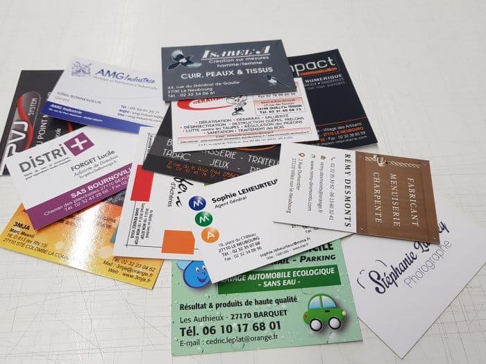 impact communication réalisation et impression de vos cartes de visite près d'Evreux et Louviers