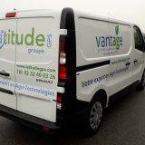 Impact Communication : marquage type lettrage d'un Trafic de l'entreprise Latitude GPS à Venon (27)