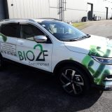 Impact communication réalisation semi-covering Qashqai Bio 2 F Environnement à Aubevoye (27)