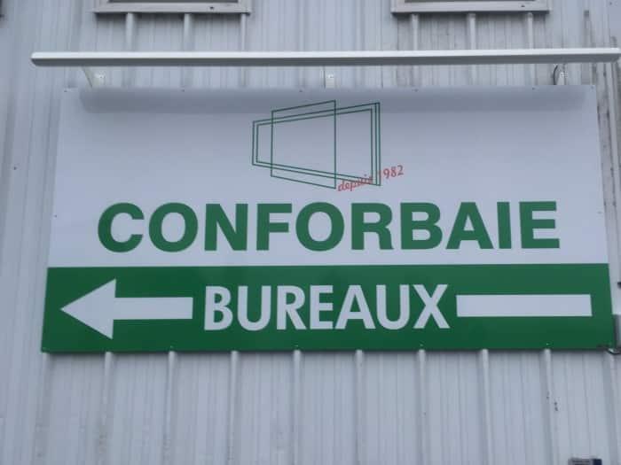 impact communication réalisation de signalétique extérieure pour Conforbaie à Gaillefontaine (76)