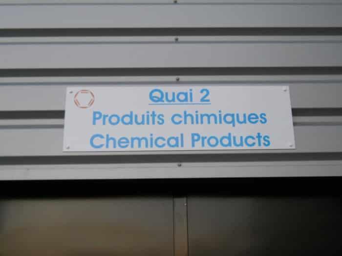 impact communication réalisation de signalétique extérieure pour Quai Dedienne à Saint Aubin sur Gaillon (27)