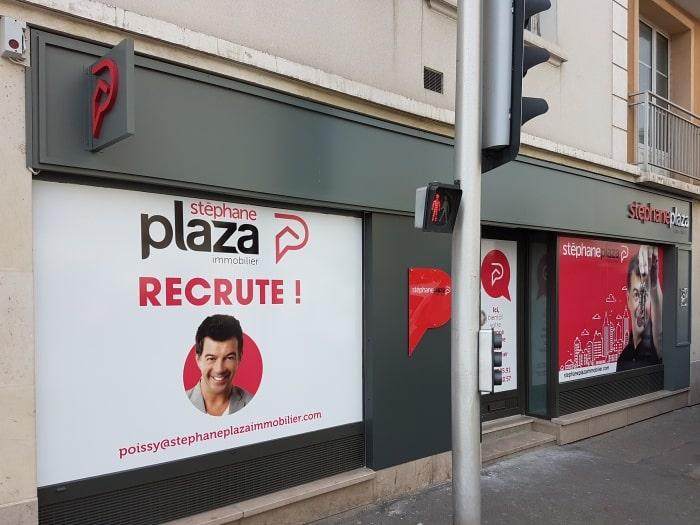 réalisation et pose enseigne Agence Stéphane Plaza à Poissy