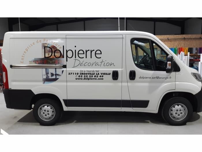 Impact communication – flocage véhicule – Dolpierre Peinture – peintre en bâtiment – Le Neubourg 4