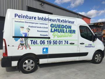 Impact communication- réalisation et pose pub master véhicule utilitaire - Ghedon lhuiller Peinture près de bernay