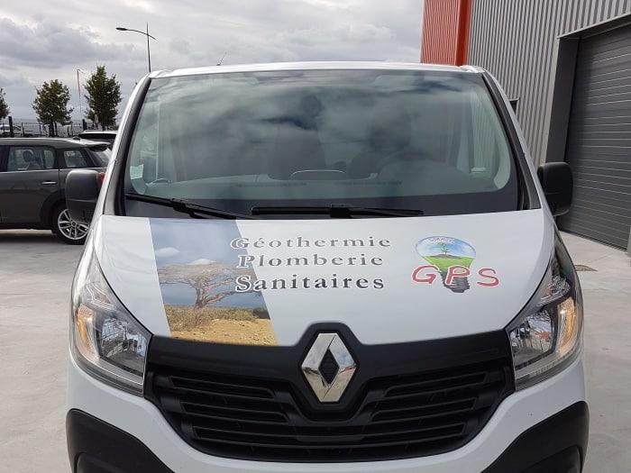 impact réalisation - flocage véhicule - GPS - entreprise de plomberie et électricité - entre Evreux et Dreux
