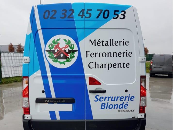 impact-communication-flocage véhicule-Serrurerie Blondé-Brionne