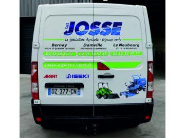 Marquage publicitaire d'un véhicule Master L1H1 pour l'entreprise Ets Josse situé à Bernay, Damville et le Neubourg dans l'Eure (27)